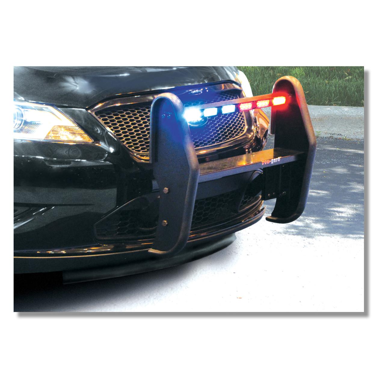 Police Interceptor Sedan Push Bumper Grill Guard by Progard, 2013-2019