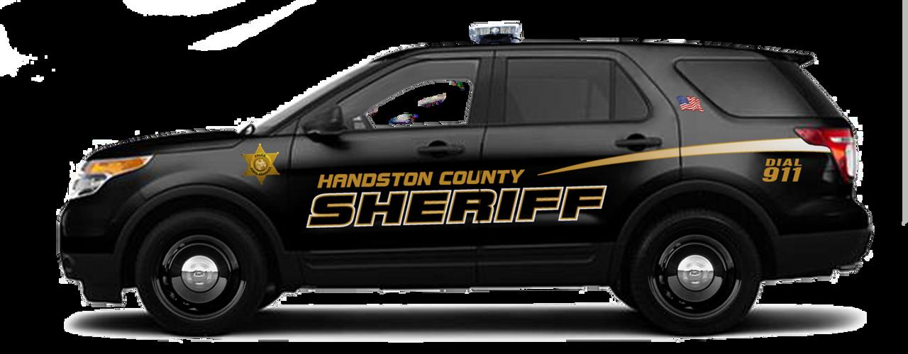 Sheriff vehicle patrol car SUV vinyl graphic decal lettering kit