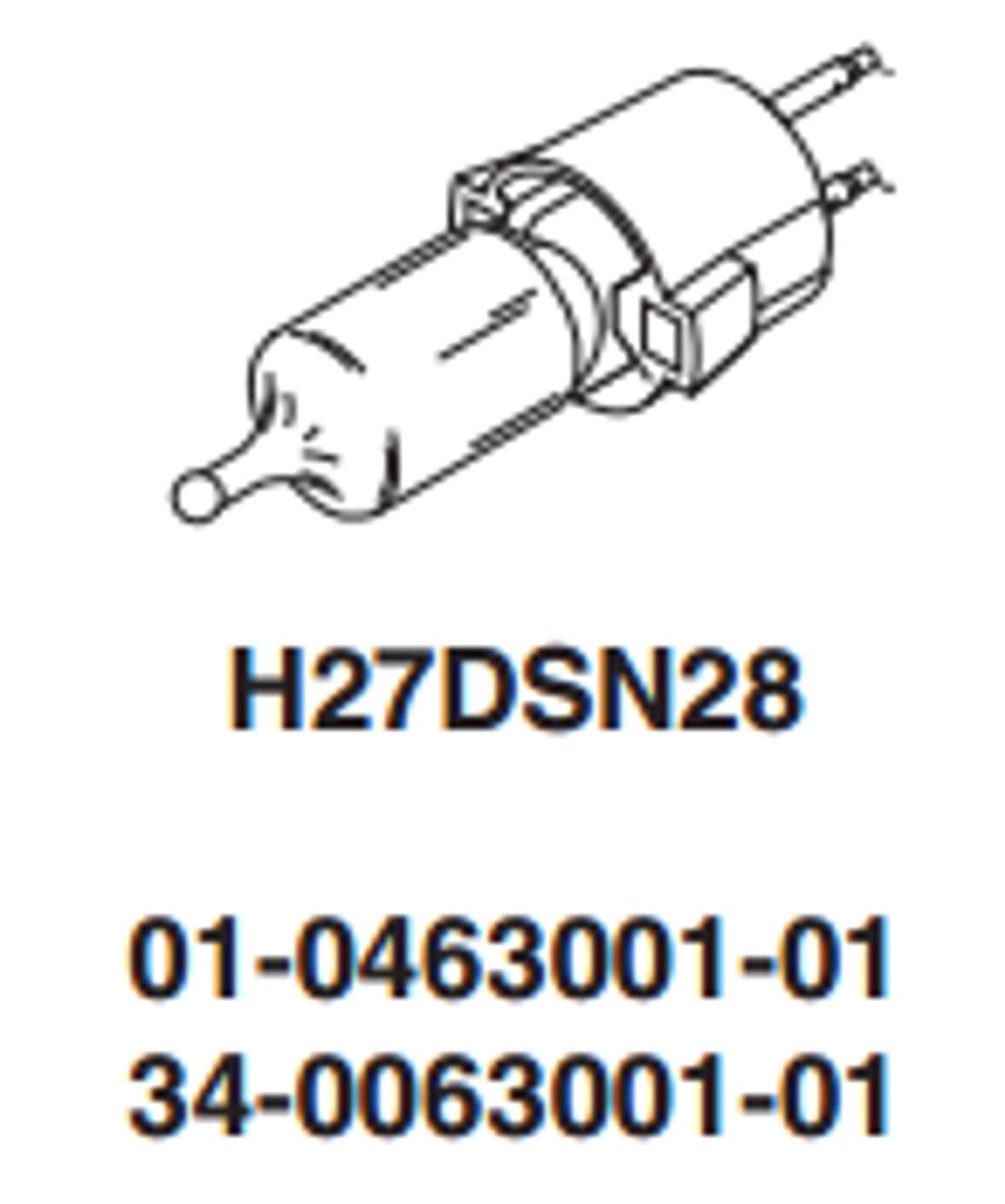 Whelen Replacement Halogen Bulb 27 Watt H27DSN28
