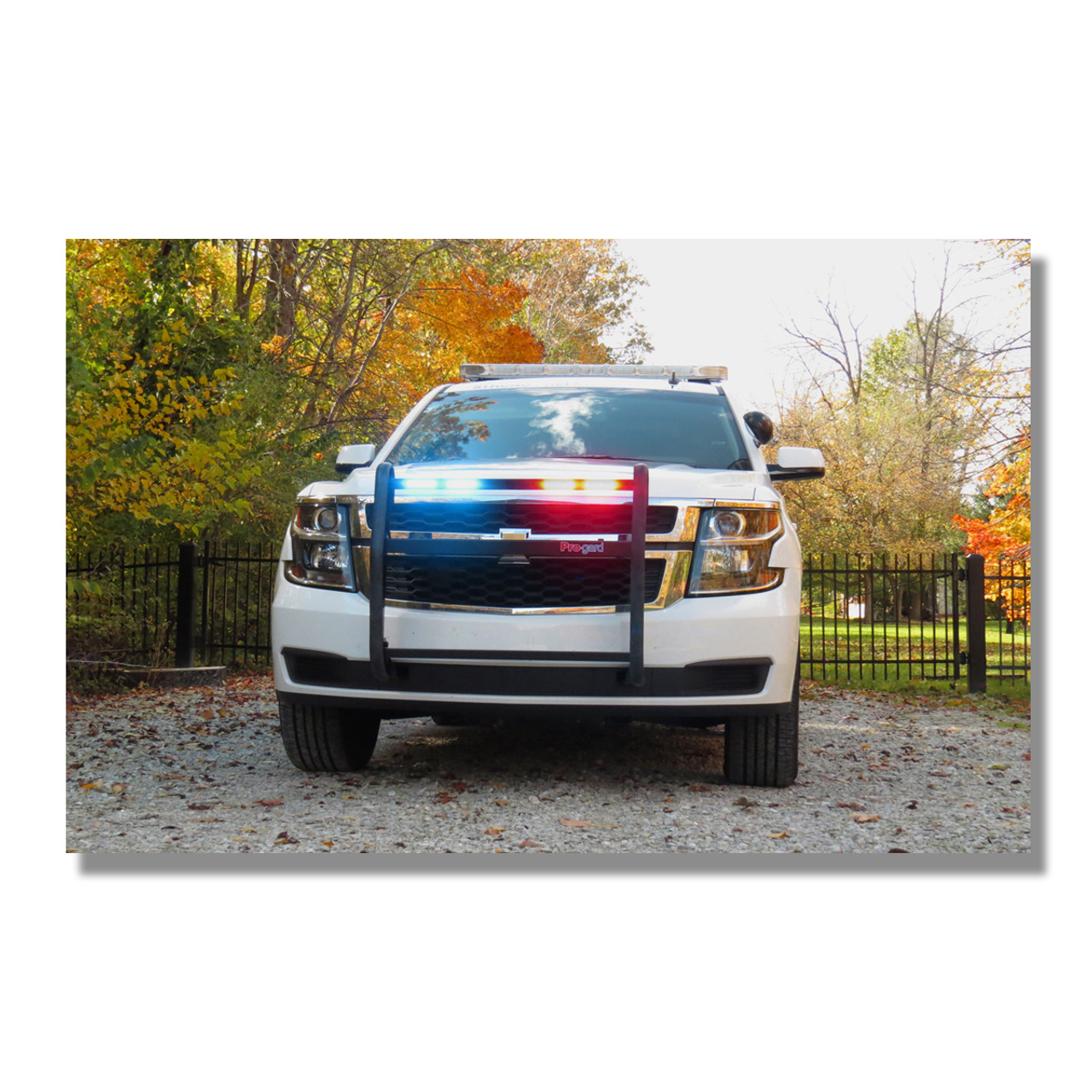 Pro-Gard Police LED Push Bumper Grill Guard for Cars SUVs Trucks using Whelen IONs