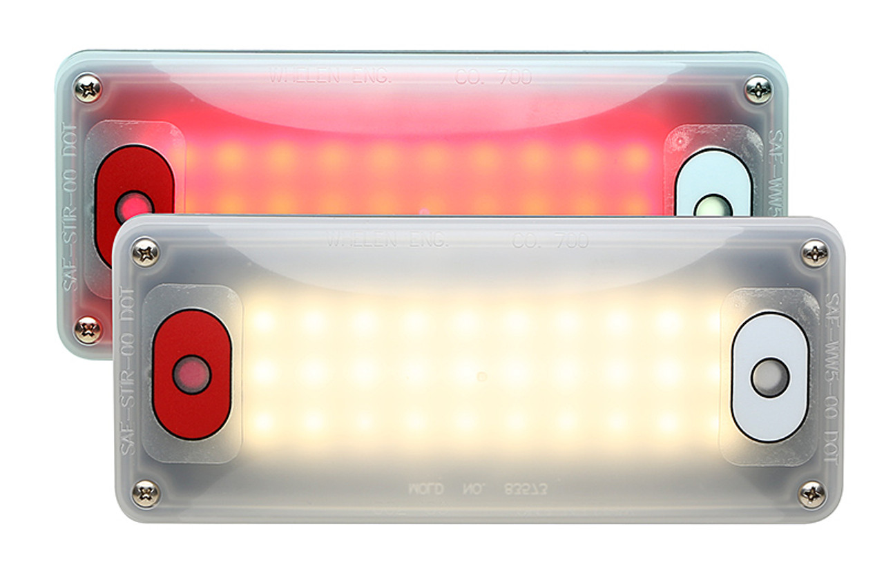 Whelen Red & White Interior Light with Individual Switches