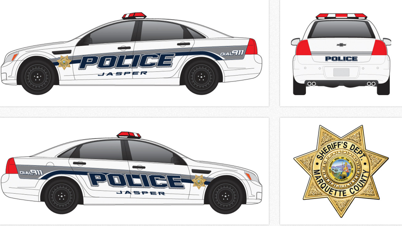 Chevy Caprice Police Vehicle Graphics Decal Kit 2159