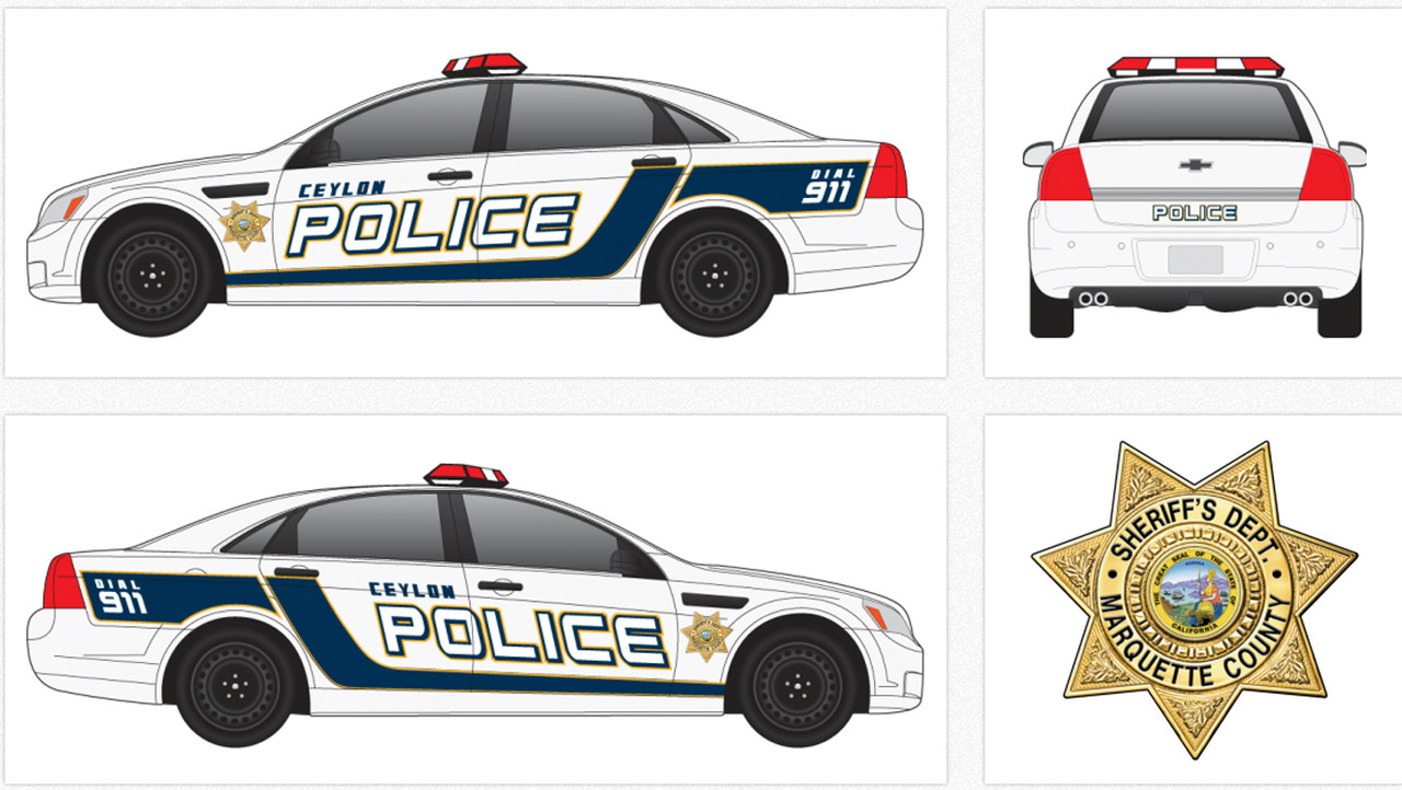 Chevy Caprice Police Vehicle Graphics Decal Kit 2162