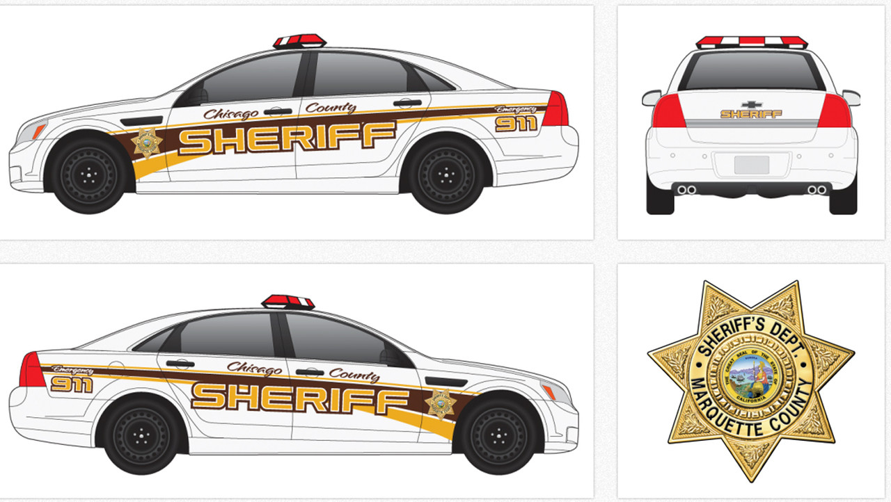 Chevy Caprice Police Vehicle Graphics Decal Kit 2163