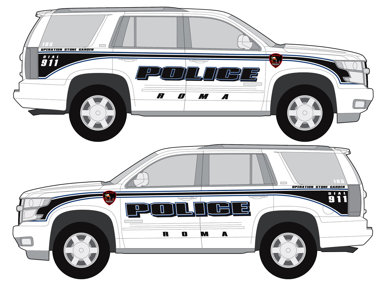 Tahoe Police Vehicle Graphics Decal Kit FS-21