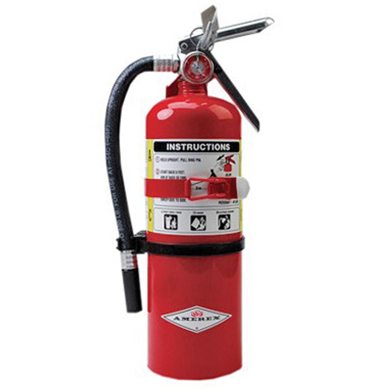Amerex B500T ABC 5 lb. Fire Extinguisher with Vehicle Bracket