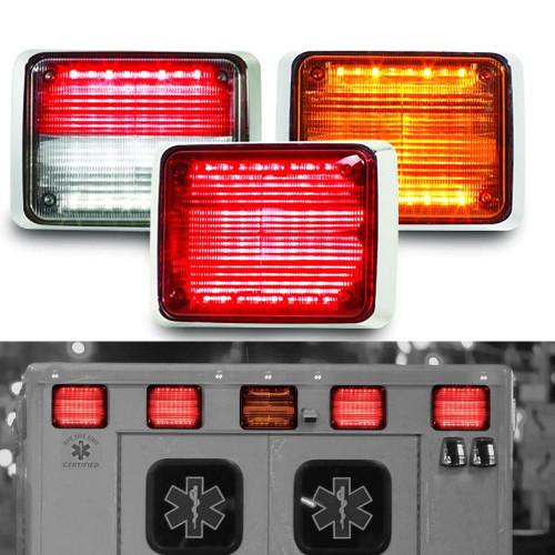 Single Color Flush//Surface Mount Light-Head Part 416300-B Blue 3-LED Federal Signal Exterior Mount Perimeter Warning