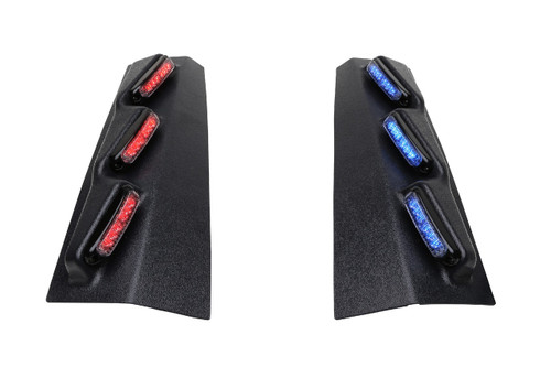 Whelen Outer Edge® Rear Pillar Ford Police Interceptor Utility (Explorer)  SUV 2013-2019 RPLS34 Exterior Vertical Mount Light Bar, SOLO ION™