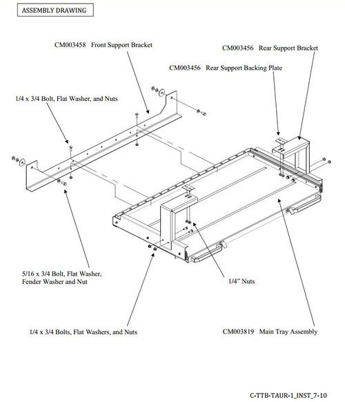 Full Width Trunk Tray Equipment Guard Option for Havis