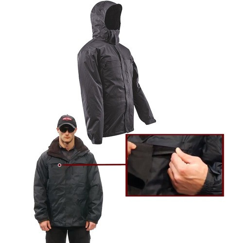 b460dc0b6 Tru-Spec TS-2410 Outerwear Water Proof 3-in-1 Parka Tactical Jacket, Side  Zip, Removable and Roll-up Hood with wraparound chin guard, Available in ...