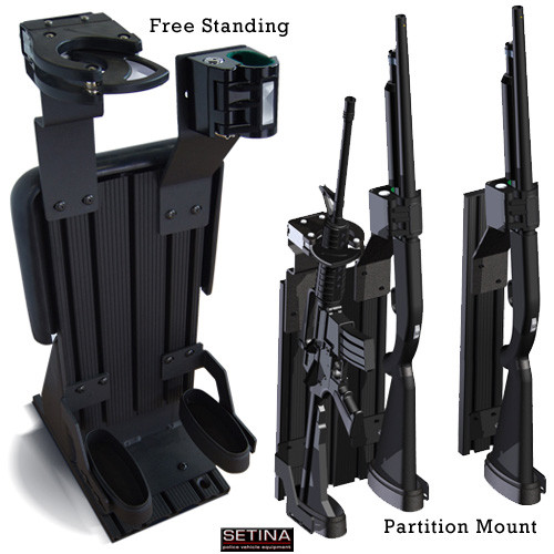 Gun Rack For Police Vehicles By Setina Partition Mount