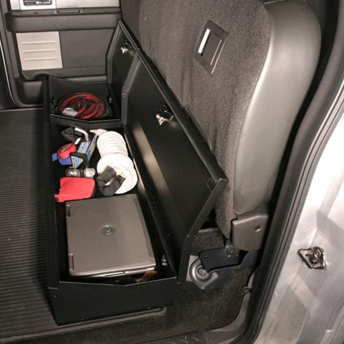 F150 Under Seat Storage >> F 150 Rear Seat Storage Organizer Lock Box