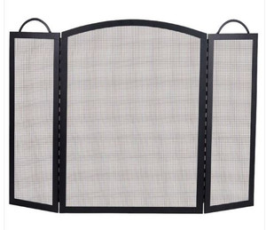 Dagan DG-S130-36 Three Fold Arched Fireplace Screen, 52x36-Inches