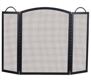 Dagan DG-S130 Three Fold Arched Fireplace Screen, 52x32.5-Inches