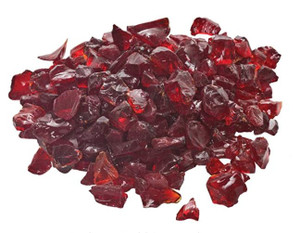 Dagan DG-GLL-RED 1/2 - 3/4-Inch Fire Glass, 10, Red