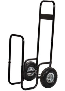 Dagan DG-LC991 Black/Rubber Log Cart, 24x15-Inches
