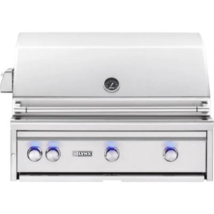 Lynx L36TR-NG Professional 36-Inch Built-In Natural Gas Grill With One Infrared Trident Burner And Rotisserie