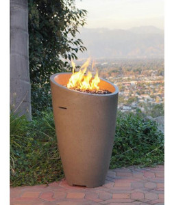 American Fyre Designs Eclipse 23-Inch Natural Gas Fire Urn - Smoke