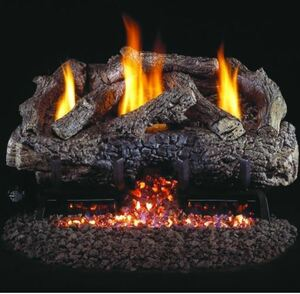 American Fyre Designs Grand Mariposa 113-Inch Outdoor Natural Gas Vent-Free Fireplace - Cafe Blanco