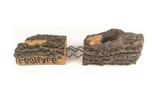 Peterson Real Fyre 18-Inch Charred Oak See-Thru Gas Log Set With Vented Natural Gas G45 Burner - Match Light