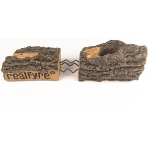 Peterson Real Fyre 18-Inch White Mountain Birch Gas Log Set With Vented Natural Gas G4 Burner - Match Light