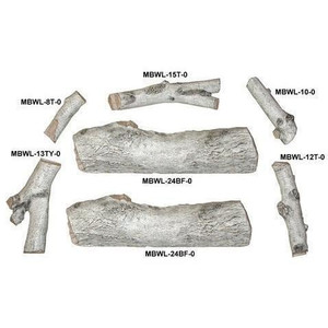 Peterson Real Fyre 24-Inch White Mountain Birch See-Thru Gas Log Set With Vented Natural Gas G45 Burner - Match Light