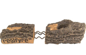 Peterson Real Fyre 33-Inch Mountain Crest Split Oak Gas Log Set With Vented G31 Three-Tiered Natural Gas Burner - Match Light