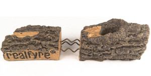 Peterson Real Fyre 36-Inch Charred Grizzly Oak Gas Log Set With Vented Natural Gas G4 Burner - Match Light