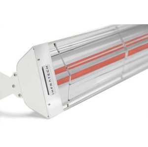 Infratech WD-Series 61 1/4-Inch 6000W Dual Element Electric Infrared Patio Heater - 240V - White - WD6024SS-WH