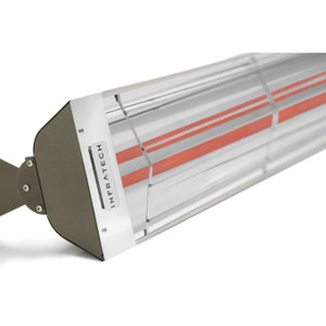 Infratech WD-Series 39-Inch 4000W Dual Element Electric Infrared Patio Heater - 240V - Bronze - WD4024SS-BRZ