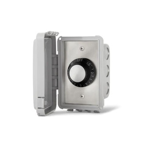 Infratech 120V Single Input Regulator Stainless Steel Flush Mount Plate With Deep Gang Box And Waterproof Cover - 14-4110
