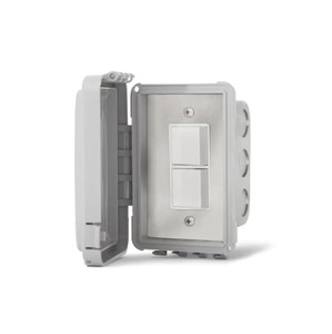 Infratech 240V Flush Mount In-Wall Weatherproof Single Stacked Duplex Switch - 14-4310