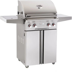 American Outdoor Grill T-Series 24-Inch 2-Burner Propane Gas Grill W/ Rotisserie & Single Side Burner - 24PCT