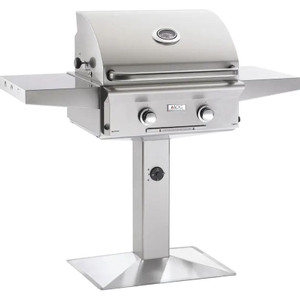 American Outdoor Grill L-Series 24-Inch 2-Burner Propane Gas Grill On Pedestal - 24PPL-00SP
