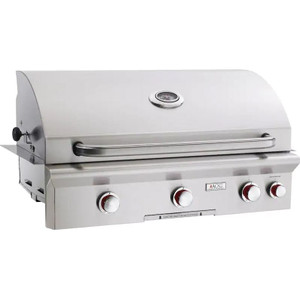 American Outdoor Grill T-Series 36-Inch 3-Burner Built-In Natural Gas Grill With Rotisserie - 36NBT