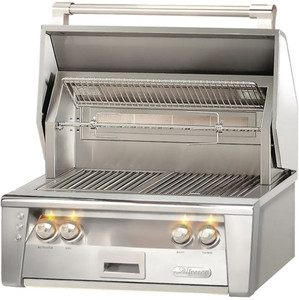 Alfresco ALXE 30-Inch Built-In Natural Gas Grill With Sear Zone And Rotisserie - ALXE-30SZ-NG