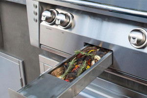 Alfresco ALXE 42-Inch Built-In Natural Gas Grill With Sear Zone And Rotisserie - ALXE-42SZ-NG