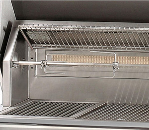 Alfresco ALXE 56-Inch Built-In Natural Gas Deluxe Grill With Sear Zone, Rotisserie, And Side Burner - ALXE-56SZ-NG