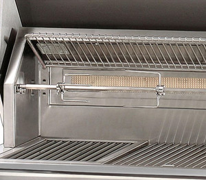 Alfresco ALXE 56-Inch Built-In Propane Gas Deluxe Grill With Sear Zone, Rotisserie, And Side Burner - ALXE-56SZ-LP