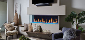 Corner Linear Gas Fireplace