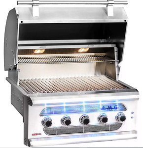 American Muscle Grill 36-Inch 5-Burner Dual Fuel Wood / Charcoal / Natural Gas Grill - AMG36-NG