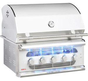 American Muscle Grill 36-Inch 5-Burner Built-In Dual Fuel Wood / Charcoal / Propane Gas Grill - AMG36-LP