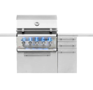 American Muscle Grill 36-Inch 5-Burner Dual Fuel Wood / Charcoal / Propane Gas Grill - AMG36-LP