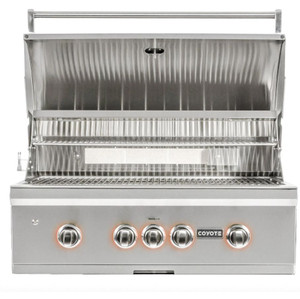 Coyote S-Series 36-Inch 4-Burner Built-In Natural Gas Grill With RapidSear Infrared Burner & Rotisserie - C2SL36NG