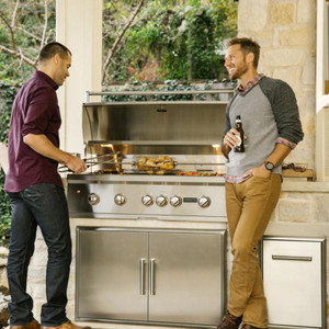 Coyote S-Series 42-Inch 5-Burner Built-In Natural Gas Grill With RapidSear Infrared Burner & Rotisserie - C2SL42NG