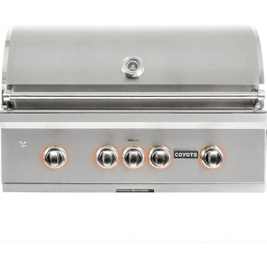 Coyote S-Series 36-Inch 4-Burner Built-In Propane Gas Grill With RapidSear Infrared Burner & Rotisserie - C2SL36LP