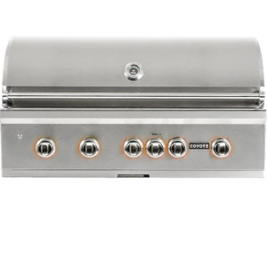Coyote S-Series 42-Inch 5-Burner Built-In Propane Gas Grill With RapidSear Infrared Burner & Rotisserie - C2SL42LP