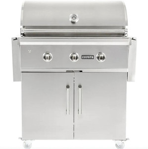Coyote C-Series 34-Inch 3-Burner Propane Gas Grill - C2C34LP + C1C34CT