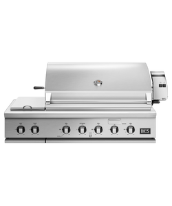 DCS Series 7 Traditional 48-Inch Natural Gas Grill With Double Side Burner & Rotisserie On DCS CAD Cart - BH1-48RS-N