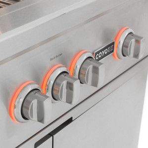 Coyote S-Series 30-Inch 3-Burner Natural Gas Grill With RapidSear Infrared Burner & Rotisserie - C2SL30NG-FS